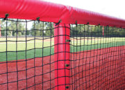 Premium Dugout Netting with Rail Padding Kit gives you maximum player safety.