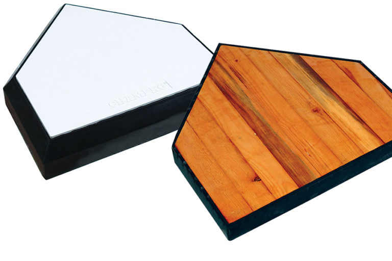 Champro Home Plate with Solid Wood Back