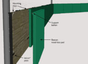 Beacon Wood-less Backstop Padding features callouts