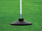Corner flags with rubber base