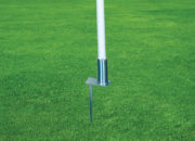 Corner flags with steel pegs