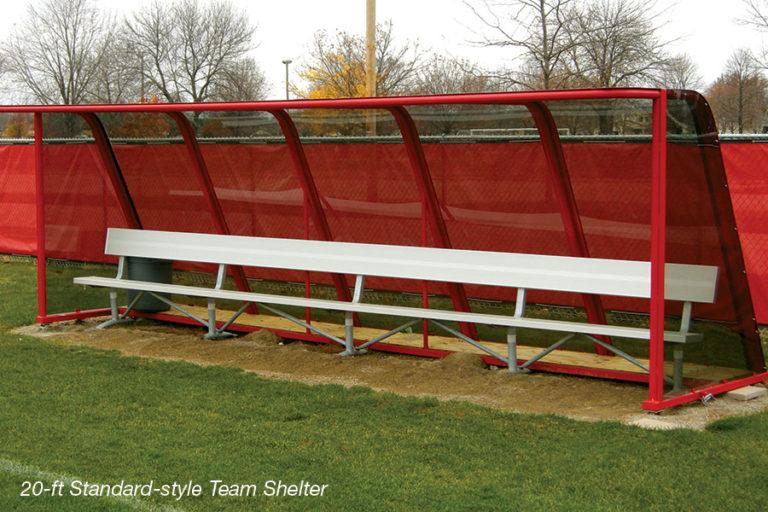 Standard-style Soccer Team Shelter