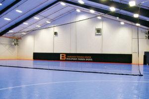 Phantom divider net for indoor gyms