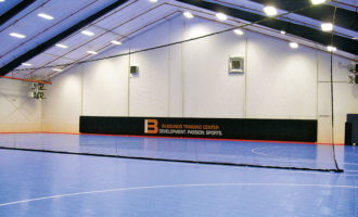 Phantom divider net for indoor gyms
