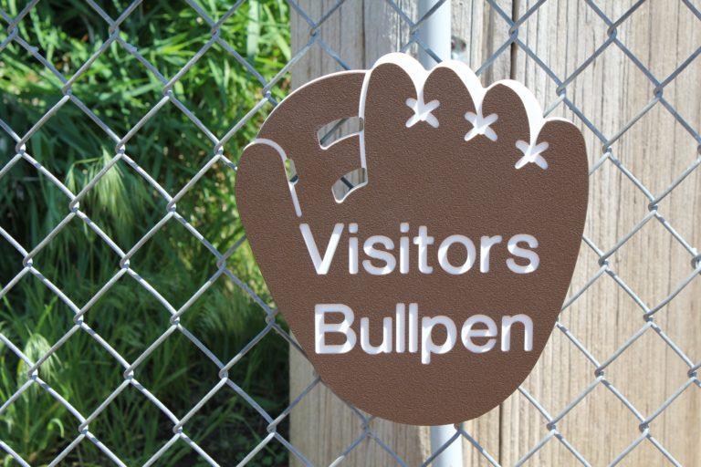 visitors bullpen closeup