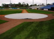 6oz. White Silver Non-Weighted Poly Homeplate Tarp